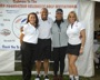Donnell Woolford Celebrity Golf Invitational (Tourney day photo with left to right Tiffany Andrews-Tournament Director, Donnell Woolford-Founder & Former NFL Chicago Bears, Debbie Storm Clark-American Gladiator, Suzie Huening-Tournament Facilatator and Celebrity Organizer)